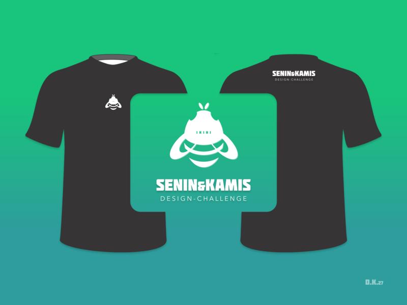 SKD Logo bee logo community logo seninkamisdesign t-shirt product brand logo