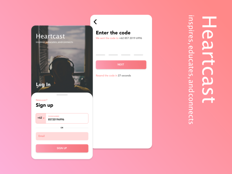 Heartcast App - Form Page uiux uidesign ui seninkamisdesign product mobile app form podcast entertainment