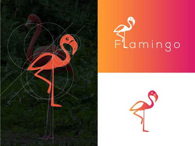 Creative Logo Inspiration - Flamingo Bird Logo brand logo brand identity branding bird art bird logo text logo simple logo logo designer logodesign logo designs logo design logo inspiration logo creative