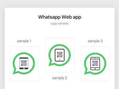 Whatsapp web app logo for iPad