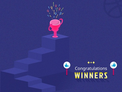2 Dribbble Invitation Giveaway - Announcement announcement giveaway winners invitation dribbble