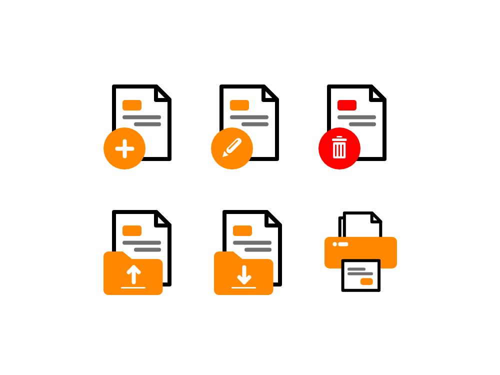 File Icon Pack website design app web vector icon