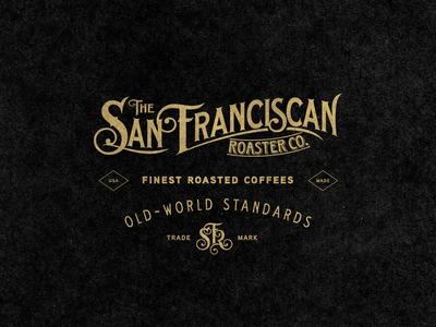 San Franciscan Roaster Co. - Old World rustic vintage old world apparel badge coffee