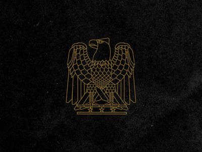 Revolution beer animal eagle line work branding illustration graphic design