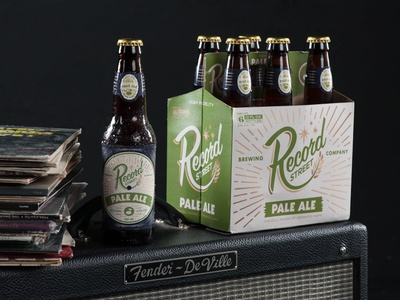 RSB Amplified brewery vinyl record beer commercial photography product photography