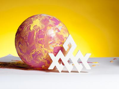 L&M Orbs geometry 3d print paint branding commercial photography art direction