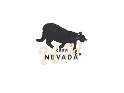 Keep Nevada Wild apparel wild dirt grit illustration nevada mountain lion