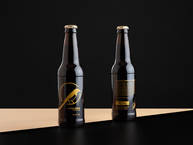 Updated Magpie Cold Brew Coffee Packaging cold brew retail bottle magpie brooklyn reno coffee packaging graphic design commercial photography creative direction branding