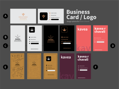 Business Card and Logo for Kavea website minimal flat illustration icon logo vector typography branding ux