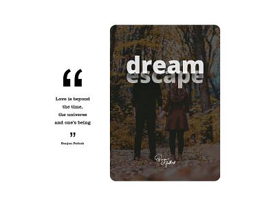 DreamEscape Book Cover booking romance love quotes bookcoverdesign bookcover cover book branding design illustration