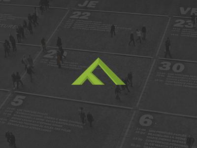 F-Branding flat typography vector ui icon logo design branding