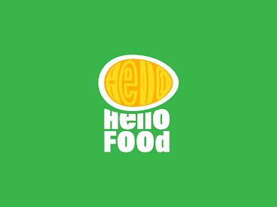 HelloFood typography web illustration icon vector logo branding design