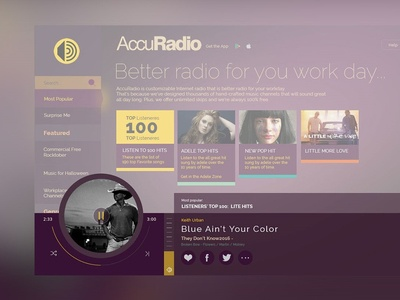 Accuradio Play Screen Redesign