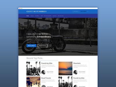 GIANT MOTORBIKES ux  ui branding icon userinterface app user experience design ux
