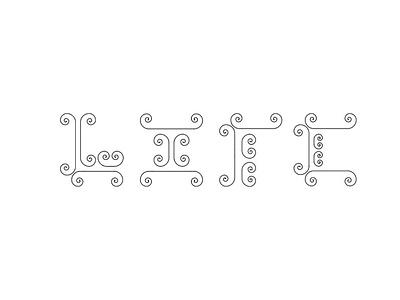 Life- Typeface flat web typography vector illustration branding design