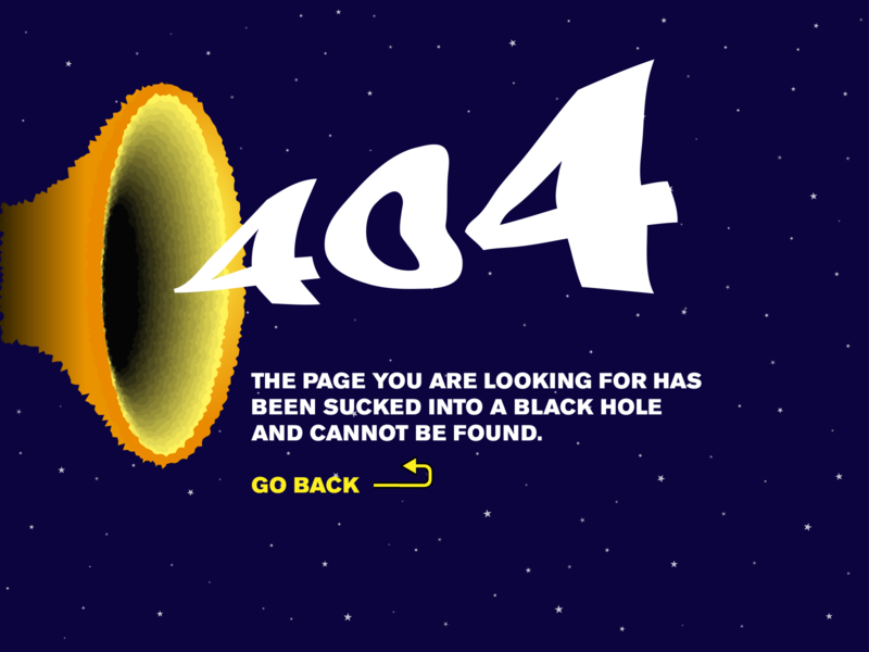 Daily UI 008 — 404 Page