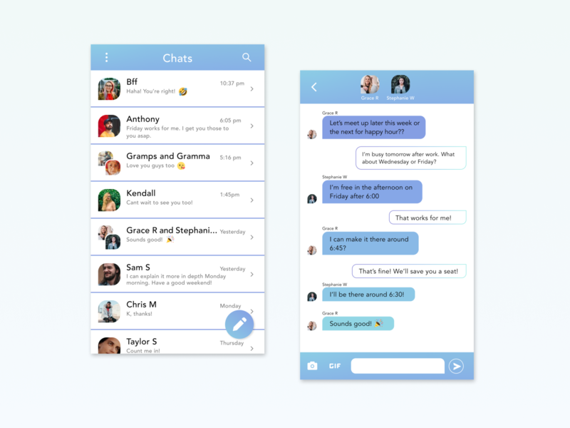 Daily UI 013 — Direct Messenging direct messaging daily ui daily ui 013 daily ui challenge ui design
