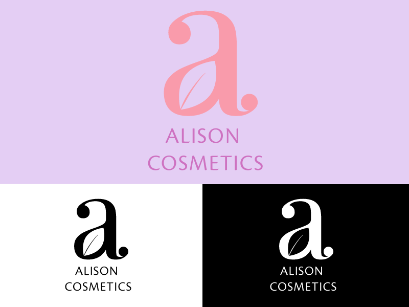 Alison Cosmetics Logo logocore logo branding design
