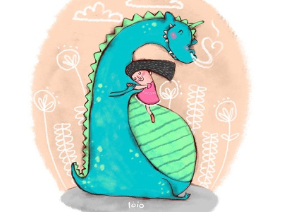 Everything is OK! Don't worry my little dragon illustration