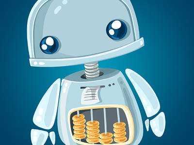 Accounting app character character design