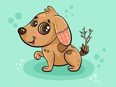 A character for an animal protection NGO animal dog character design