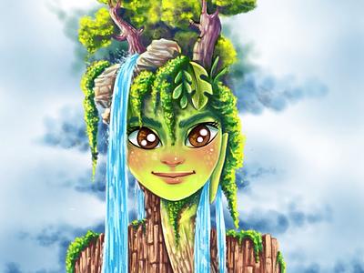 Thinking about nature :) illustration