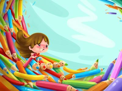 My colorful world illustration