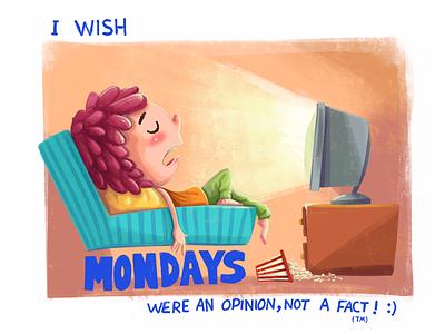 Monday opinion illustarion