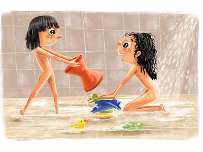 We had our own pool! illustration digitalpainting