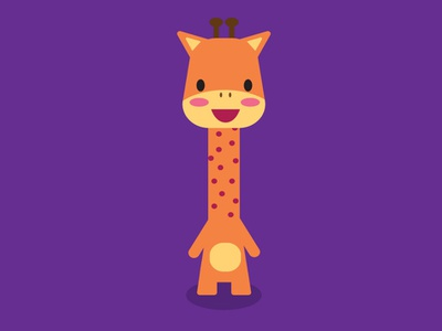 Game character animal character design illustration