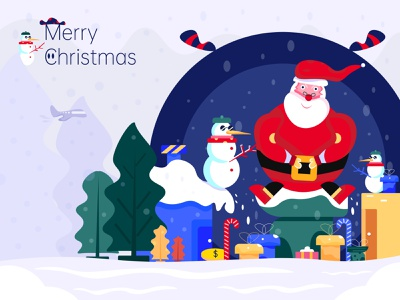 Merry Christmas snowflake gift new year imagination branding branding design interface design illustration illustration art vector illustrations merry christmas snowman