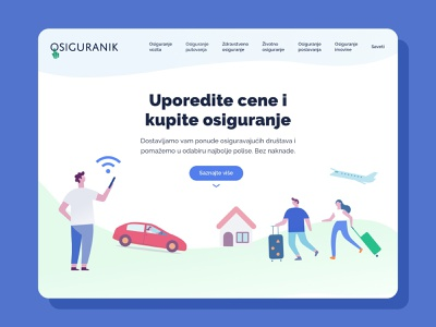 Insurance ecommerce • Home uidesign ux design web landing page insurance webshop ecommerce
