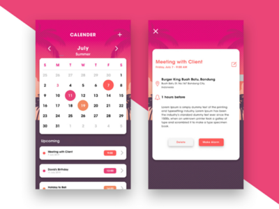 Calender UI - Day 1 of 6 Days UI Challenge