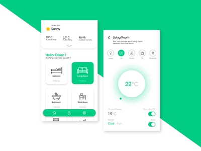 Smart Home UI - Day 3 of 6 Days UI Challenge