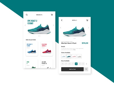 Sneakers UI - Day 4 of 6 Days UI Challenge
