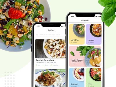 Vegan Recipe App recipe app food app cooking recipe food apple ios application ux branding ui design mobile app