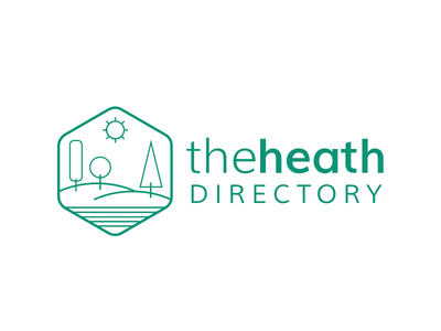 The Heath logo design branding green logo