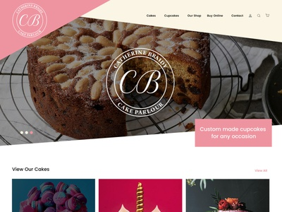 Catherine Braidy pink branding cake shop website shop website cake