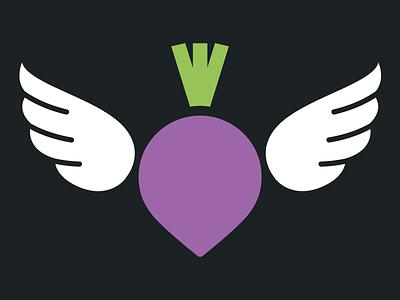 Turnip design illustration purple logo design logotype branding logo