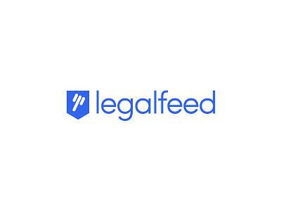 LegalFeed logo design branding app legal