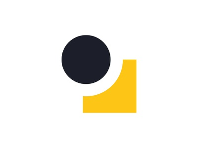 P logo design design logotype scandi modern shapes branding logo