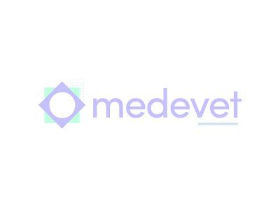 medevet branding logo design brand design logo pastels pastel