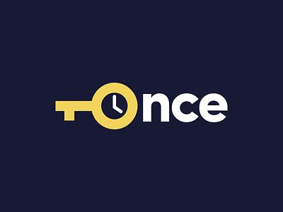 Once vector logotype logo design logo branding