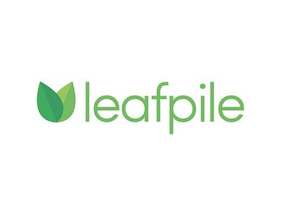 leafpile illustration vector leafs leaf design green logo design branding logo