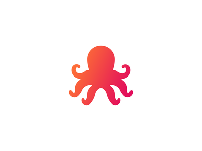 OctoPress orange pink design logo design branding logo