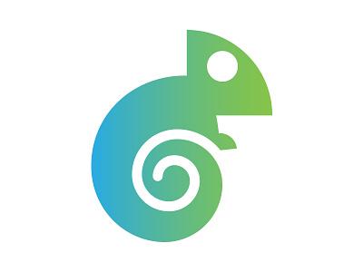 Chameleon Logo blue green logo chameleon