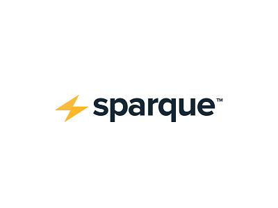 Sparque logo design bolt lightening