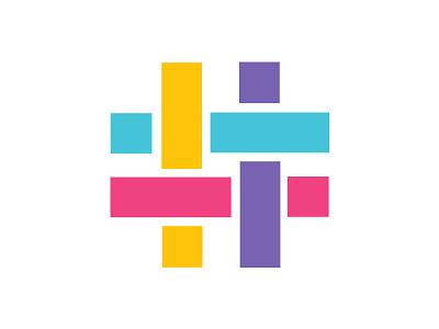 Hashes colorful brand identity branding logo hashtag