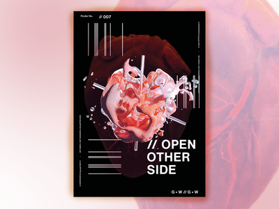 OPEN OTHER SIDE - A3 Poster Design poster posterdesign adobe photoshop collage poster art