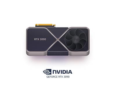 NVIDIA GEFORCE RTX 3090 illustration icon